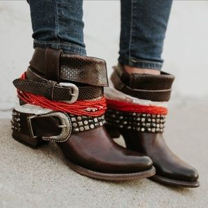 Freebird Shena Ankle Cowboy Boots Booties Leather